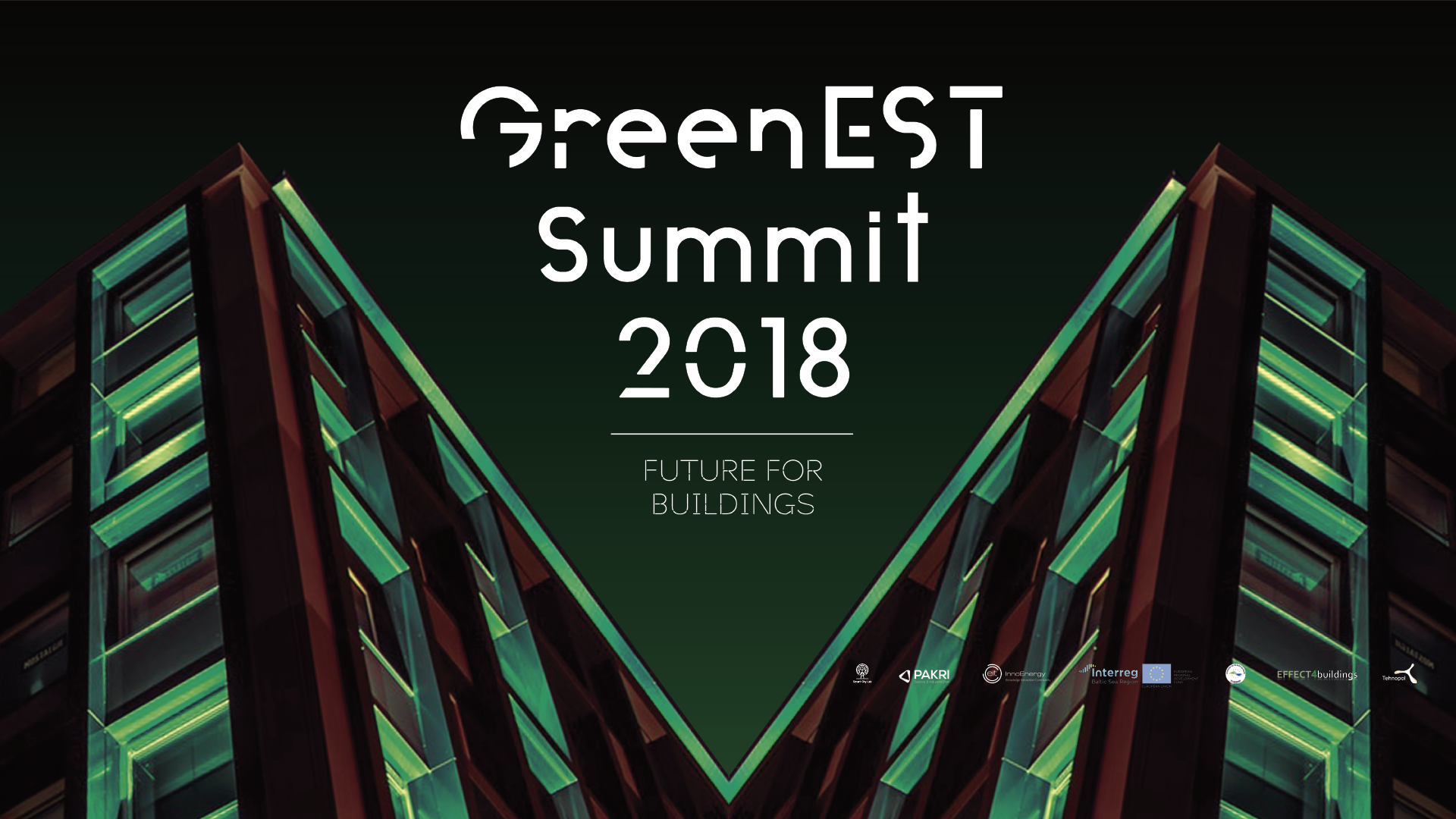 GreenEST Summit 2018: Future for Buildings on the 30th of October!