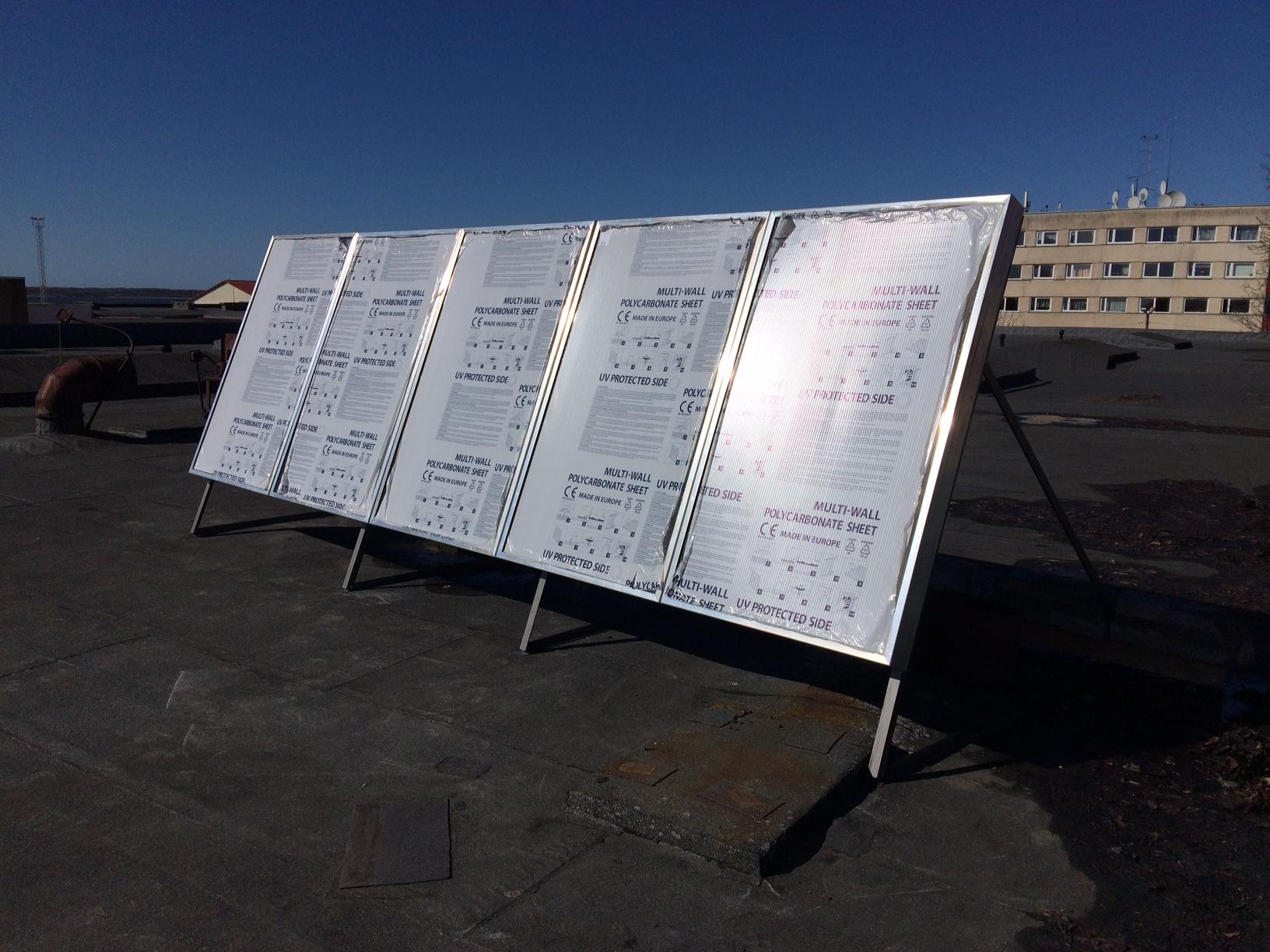Tööstushoonetele päikese õhkpaneeli tootearendus PAKRIs