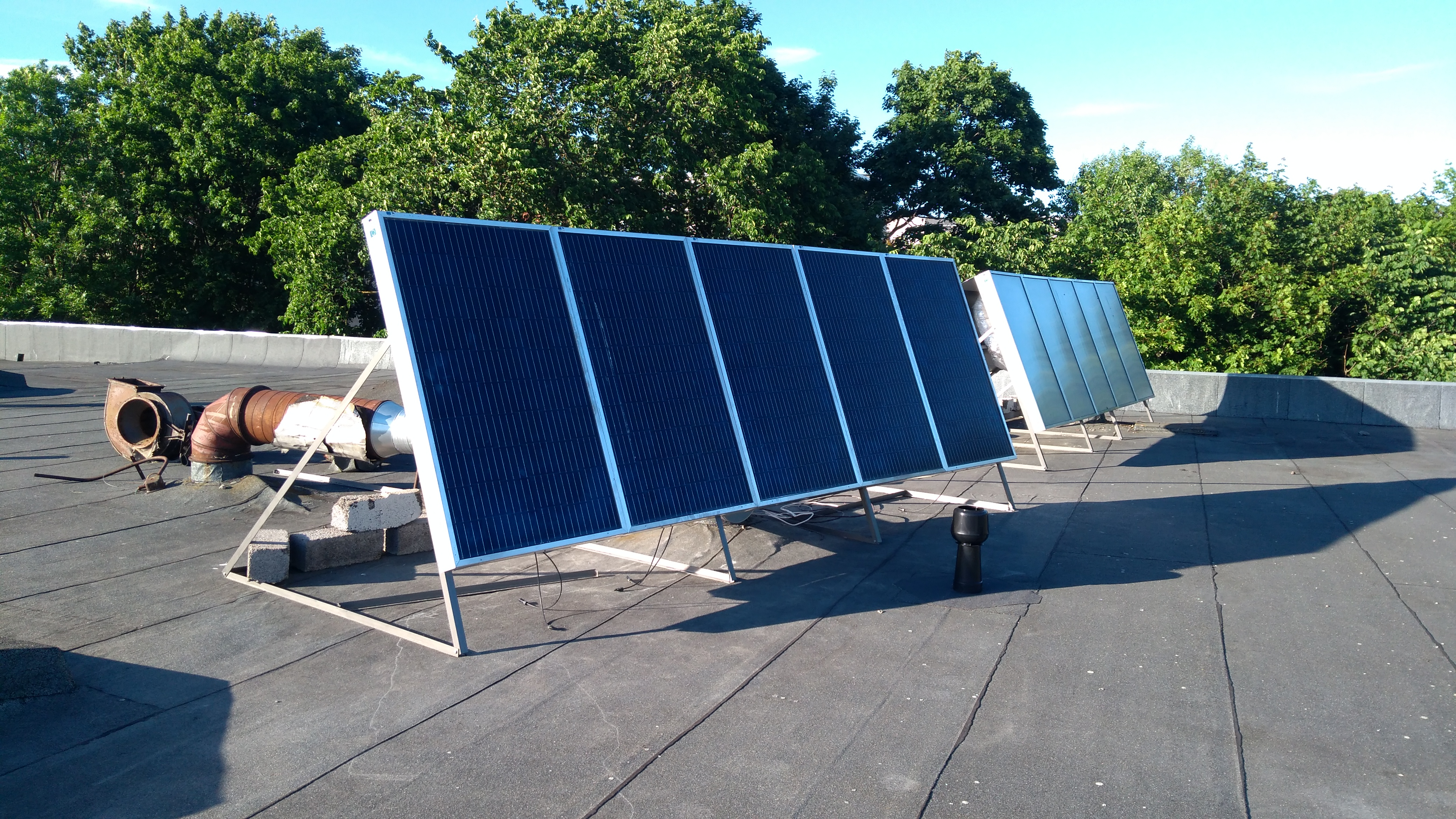 Solar heating panel, stage 2 completed