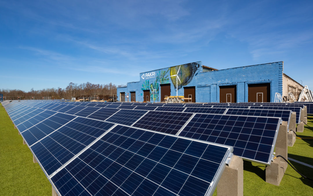 PAKRI brought new life to the used artificial turf in the solar farm